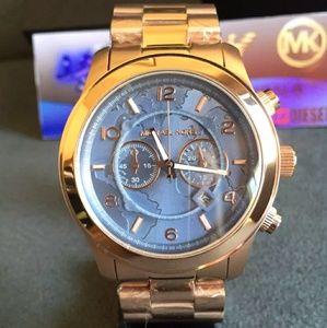 New Michael Kors UNISEX rose gold Oversized watch